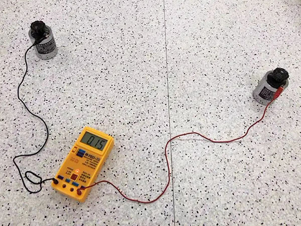 anti-static pvc flooring roll test