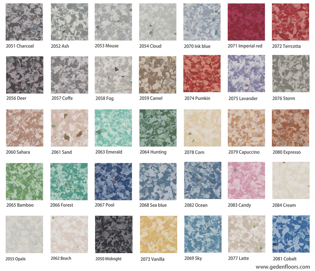 homogeneous vinyl sheet flooring colors BRON