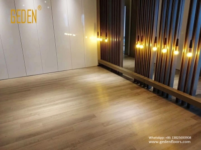 commercial SPC-click pvc wood flooring for hotel 6609