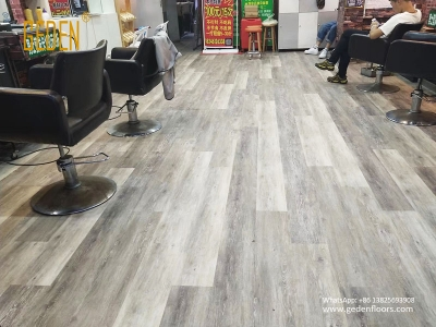 commercial SPC-click vinyl plank for salon 6610