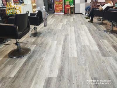 commercial SPC-click vinyl plank for salon 6610