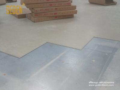 commercial SPC-click vinyl tiles installation GD8801