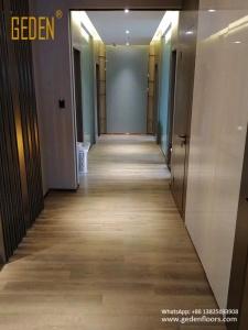 commercial SPC-click vinyl wood flooring for hotel 6609