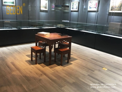 commercial SPC-pvc floor interlock for museum 6609