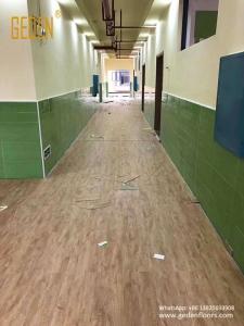 commercial SPC-waterproof click floor for school 6607