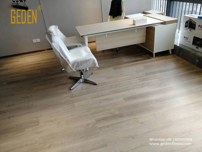 commercial SPC-wood look vinyl click for office 6609