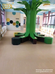 homogeneous pvc floor rolls for kindergarten