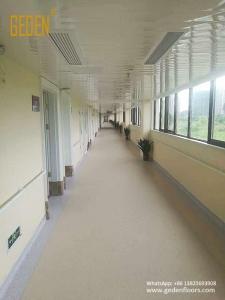 homogeneous pvc roll flooring for hospital