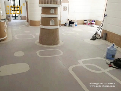 homogeneous vinyl floors for kindergarten