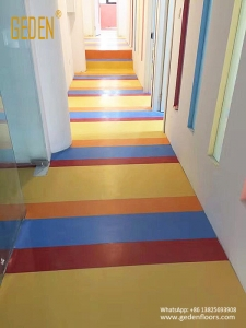 pure color vinyl sheet floor for kindergarten