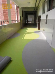 pvc floor covering rolls for kindergarten