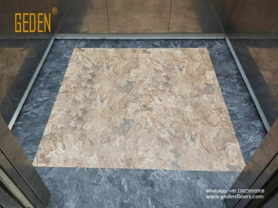 residential LVT-tile look vinyl flooring